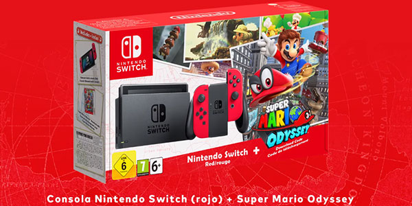 Pack Switch + Mario Odyssey barato