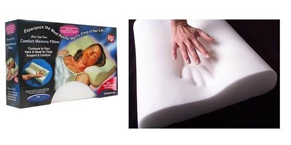 almohada individual con memoria viscoelástica barata
