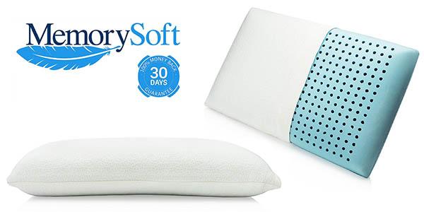 almohada viscoelástica MemorySoft con gel de memoria chollo