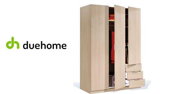 Armario ropero Habitdesign de Duehome con 3 puertas y 3 cajones en color roble chollo en eBay