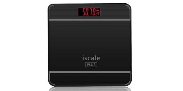Báscula de baño digital iScale Plus cristal templado negra chollo en eBay