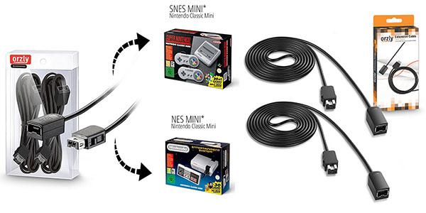Alargadores Orzly para mandos de SNES Mini y NES Mini baratos