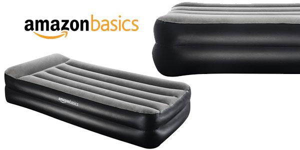 Cama hinchable AmazonBasics individual con bomba de aire de color gris barata