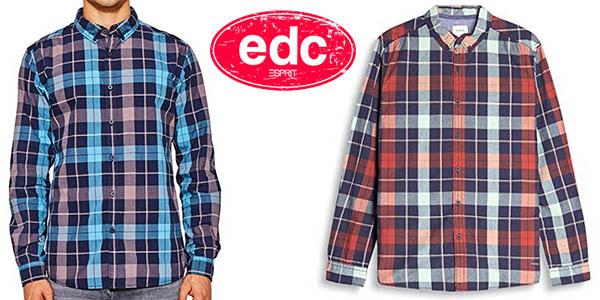 camisa edc by Esprit a cuadros para hombre chollowidth=