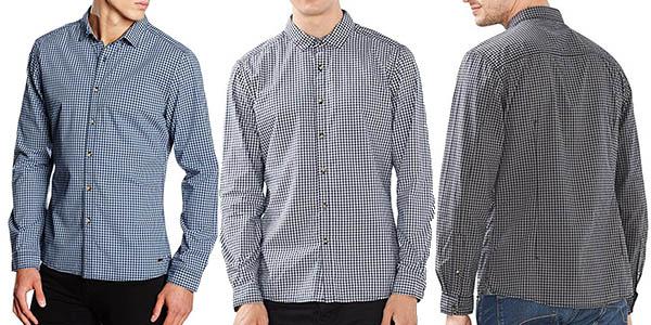 camisa EDC by Esprit con cuadros elegante para hombre chollo