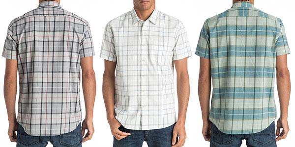 Camisa de manga corta Quiksilver Everyday Check para hombre al mejor precio