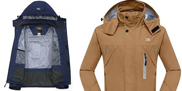 cazadora unisex con bolsillos y tela suave y confortable