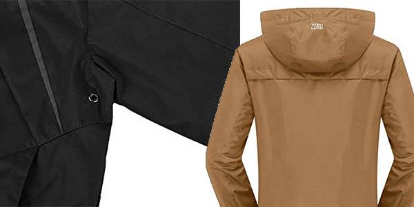 chaqueta para nieve con bolsillos cortavientos barata