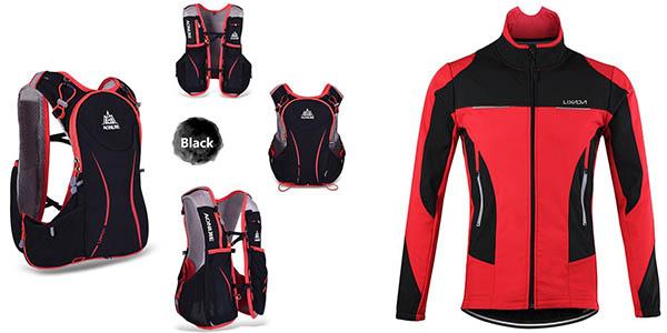 conjunto de ciclismo Lixiada mochila y chaqueta con cupón descuento Amazon octubre 2017