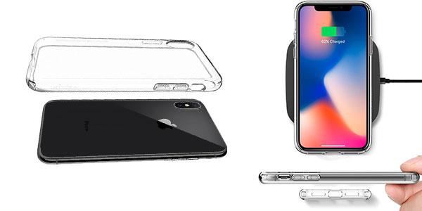 Funda Spigen transparente de alta calidad para iPhone X