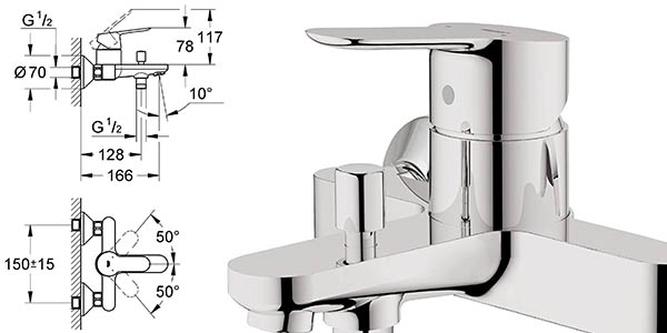 grifo cuarto de baño Grohe StartEdge Precision fácil montaje