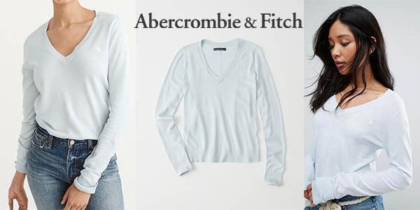 jersey básico Abercrombie & Fitch de diseño casual para mujer barato