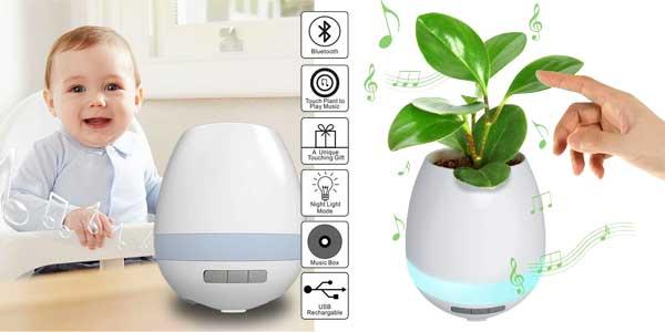 Original maceta Gleading con función de lámpara de mesa táctil y altavoz Bluetooth incorporado chollazo en Amazon