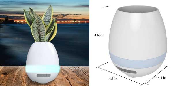 Original maceta Gleading con función de lámpara de mesa táctil y altavoz Bluetooth incorporado chollo en Amazon