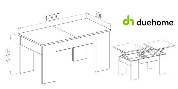 Mesa de centro Ganso de Duehome con 2 superficies elevables disponible en 2 colores barata en eBay