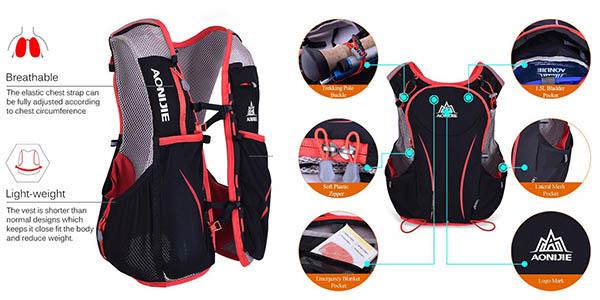 mochila para ciclismo Lixiada de 5 litros con bolsa de agua chollo