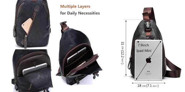 Comprar Elegante mochila de hombro Freemaster estilo vintage para hombre chollazo en Amazon