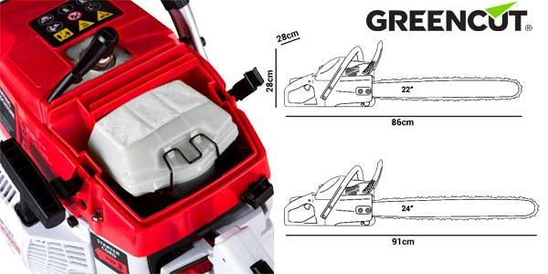 """Motosierra gasolina Greencut GS7200 para tala con espada de 24"""" cilindrada 72 cc barata en eBay"""