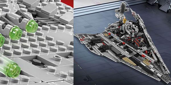 nave espacial de la primera orden caja Lego Star Wars sin figuras