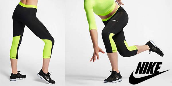 Nike Pro pantalones pirata de entrenamiento para mujer baratos