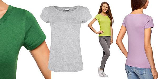 Oodji camiseta básica para mujer en algodón y manga corta con relación calidad-precio