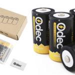 Pack de 4 pilas D recargables Odec de 10000 mAh con estuche barato