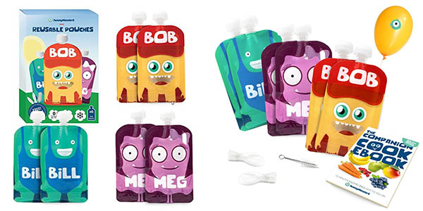 Pack 6 bolsas reutilizables para llevar comida de bebé libres de BPA chollo