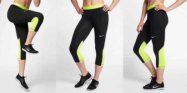 pantalones de deporte técnicos para mujer Nike Pro chollo