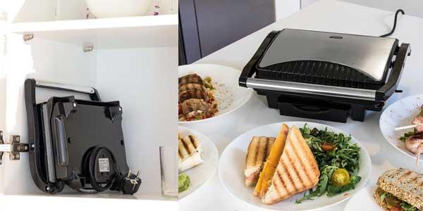 Sandwichera grill Panini 2 en 1 con asador de piedra RockStone de 1000W barata en eBay