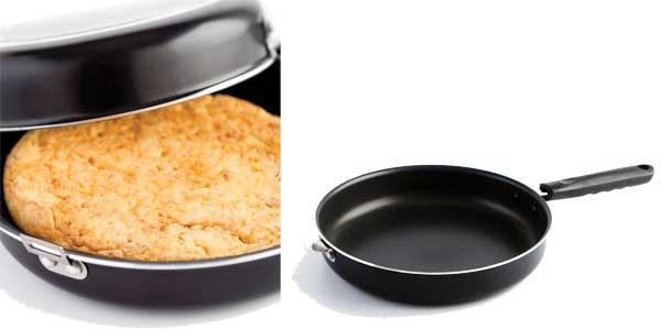 Sartén doble para tortilla Quid Gastro Fun barata en Amazon