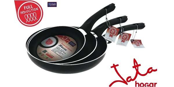 """Set de 3 sartenes Mauma Jata Xylan Plus """"Full Induction"""" para todo tipo de cocinas chollo en eBay"""