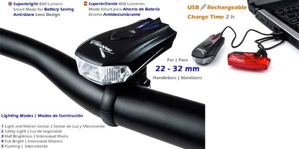 Set de luces LED recargables Pantala Trail chollazo en Amazon