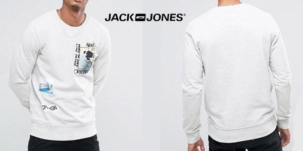 Sudadera Jack & Jones con estampado de parche Originals para hombre barata