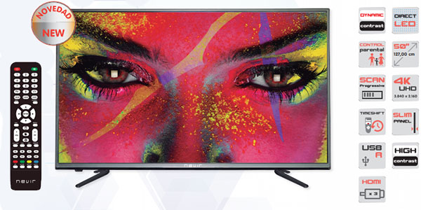 Chollo TV Nevir NVR-7603 UHD 4K de 49″