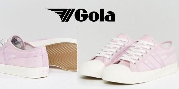 Zapatillas de estilo casual Gola Coaster de color lila para mujer rebajada