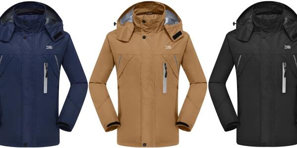 Zshow chaqueta impermeable barata en Amazon