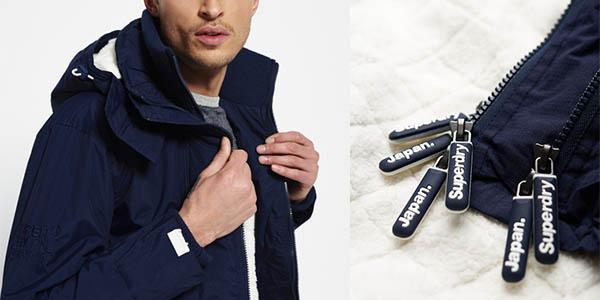 abrigo con capucha Superdry Sherpa casual oferta