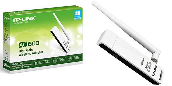Adaptador WiFi USB AC 600 Dual Band TP-LINK Archer T2UH