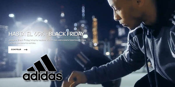 Caucho Humedal Permanecer  Black Friday Adidas con un BRUTAL 65% de descuento