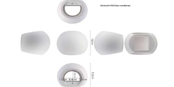 Apliques LED de pared Deckey de estilo moderno para interiores chollazo en Amazon