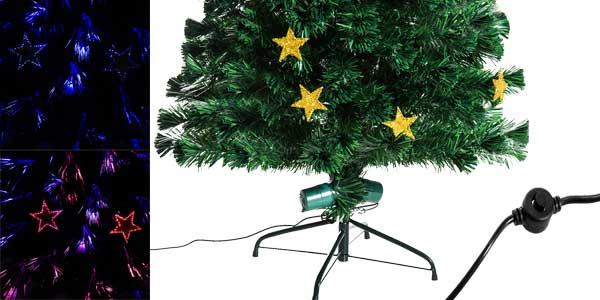 Árbol de Navidad artificial Homcom de hojas verdes con decoración y luces LED barato en eBay