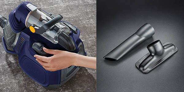 aspirador potente AEG LX7 con depósito de 1,4 litros y varias boquillas para parque y alfombras