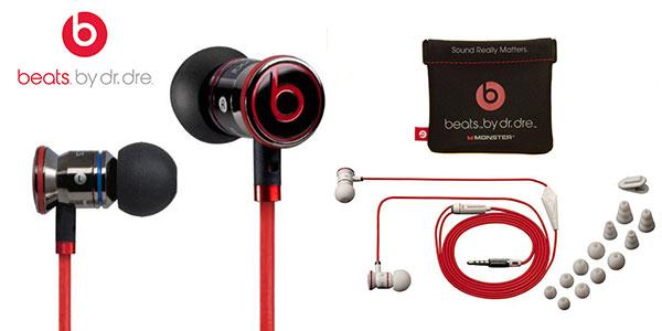 Auriculares in-ear Monster Beats by Dr. Dre negro blanco rebajados