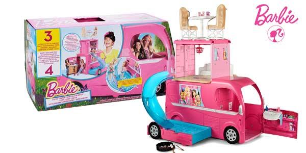 Autocaravana Superdivertida Barbie de Mattel CJT42 chollo en Amazon España