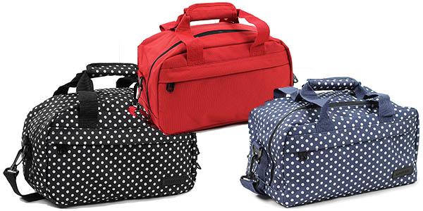 bolsa tipo neceser ideal como complemento para el trolley con el tamaño de las compañías low cost chollo