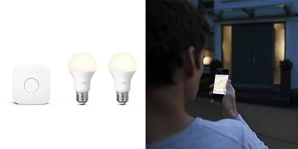 bombillas Philips Hue White regulables y programables desde el smartphone
