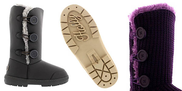 botas de caña alta con relleno de piel relación calidad-precio brutal