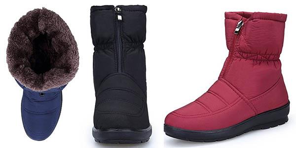 botas Koudyen impermeables con borrego sintético para mujer chollo