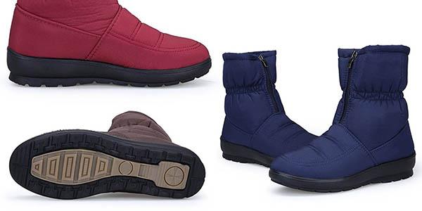botas de nieve de estilo casual cómodas en piel sintética con gran relación calidad-precio