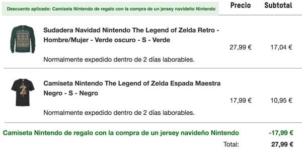 camiseta Nintendo gratis en Zavvi
